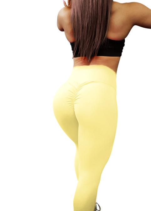 pastel yellow leggings