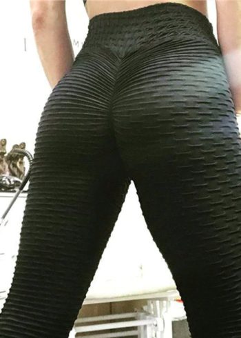 black anti cellulite scrunch booty